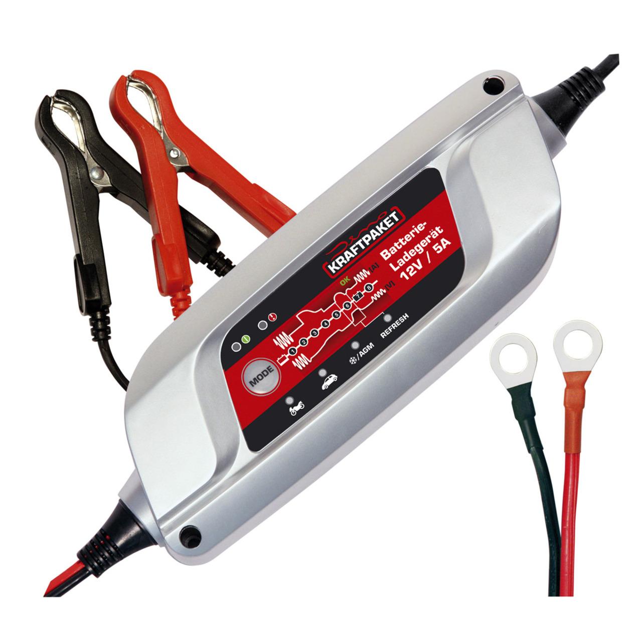 Dino KRAFTPAKET Batterieladegerät- 12 V- 5 A- mit Refresh-Funktion