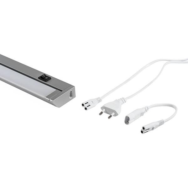 ELV 10,5-W-LED-Unterbauleuchte mit Schalter, schwenkbar, warmweiß