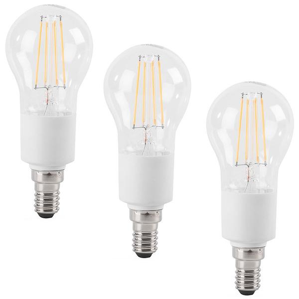 ELV 3er-Spar-Set FL BASIC DIM P40 4,5-W-LED-Tropfenlampe E14, warmweiß, dimmbar