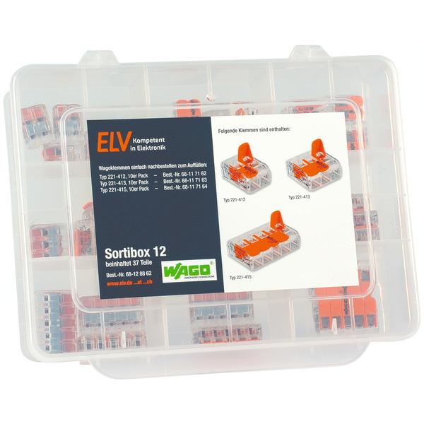 ELV Wago-Sortimentsbox Nr. 12 mit 37 Wago-Klemmen