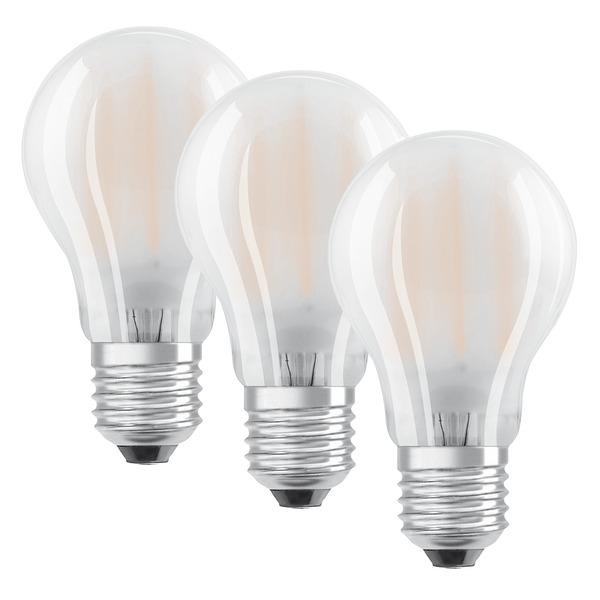 OSRAM LED PROMO  3er Set 7-W-Filament-LED-Lampe E27, warmweiß, matt