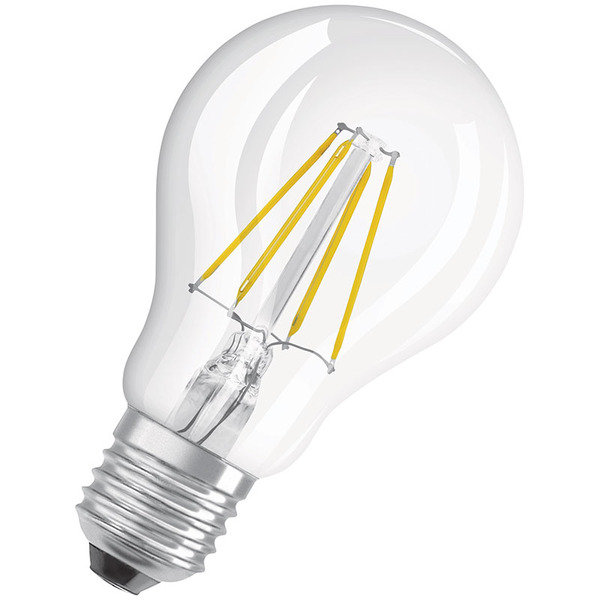 OSRAM LED STAR PLUS 4,5-W-Filament-LED-Lampe E27 mit GlowDim-Technologie, warmweiß