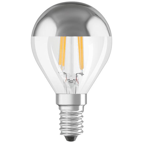 OSRAM LED FILAMENT MIRROR 4-W-LED-Tropfenlampe E14 mit Spiegelkopf, warmweiß