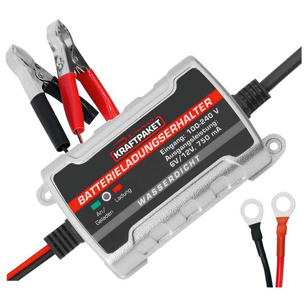 Dino Kraftpaket Erhaltungsladegerät für Autobatterien, 6/12 V, 0,75 A