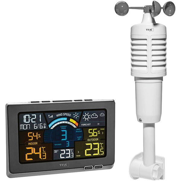 TFA Funk-Wetterstation Spring Breeze, inkl. Windmesser und Thermo-/Hygrosensor