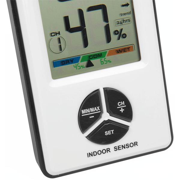 ELV Thermo-/Hygrosensor TH100 mit Klima-Komfortanzeige, für Raumklimastation RS100
