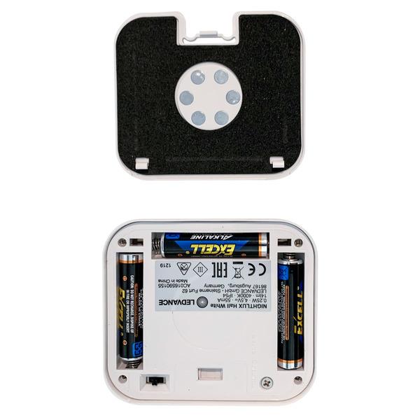 Ledvance Batterie-LED-Leuchte Nightlux Hall, mit PIR-Bewegungsmelder, weiß
