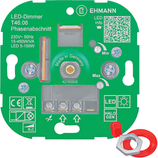 Ehmann T46.08 UP-LED-Dimmer, Phasenabschnitt