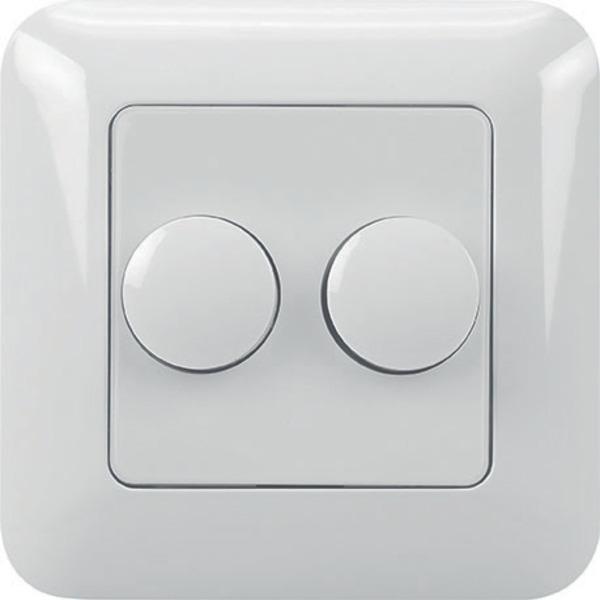 Ehmann LED-UP-Doppeldimmer inkl. Abdeckrahmen