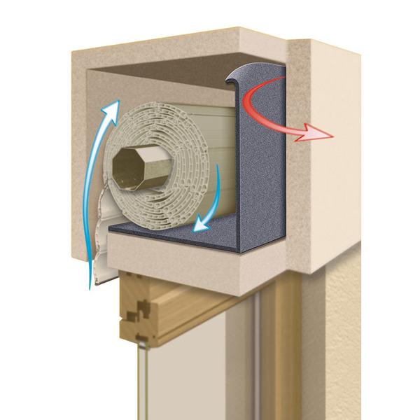 Schellenberg Rollladenkasten-Dämmrolle, 2-teilig, 3 mm