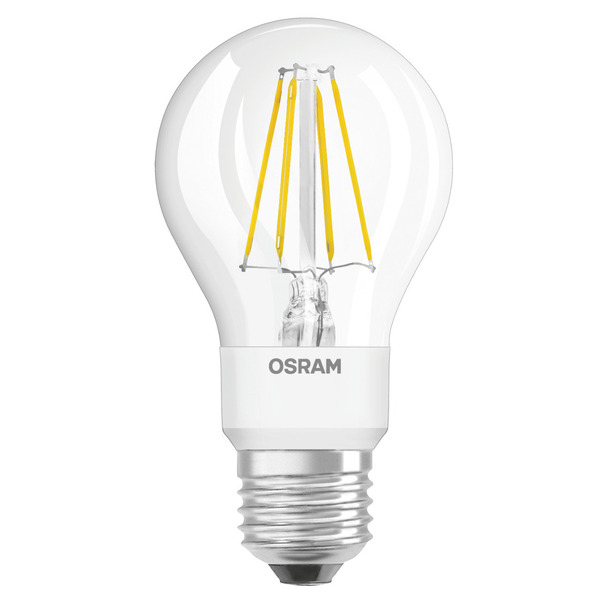 OSRAM LED STAR PLUS 7-W-Filament-LED-Lampe E27 mit GlowDim-Technologie, warmweiß