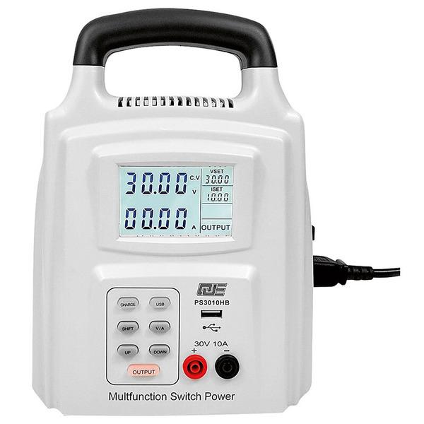 Tragbares Labornetzgerät PS3010HB 0 - 30 V DC / 0 - 10 A max.