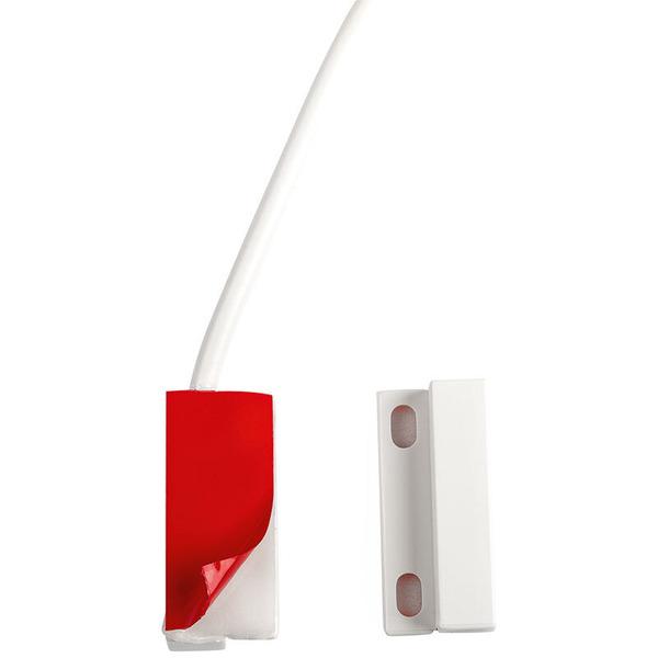 Magnetkontakt für Klebebefestigung, 2-adrig, NC, 0,3 m weiß
