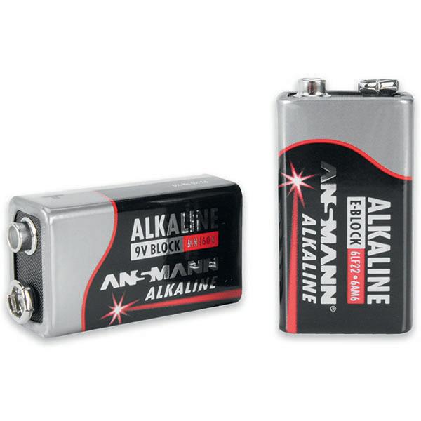 Ansmann Alkaline Batterie 9-V-Block, 1er Pack