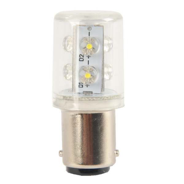 Barthelme LED 360° Rundumleuchte mit 6 LEDs, Ba15d, 240VAC, 20x45mm, blau, typ. 2,5lm
