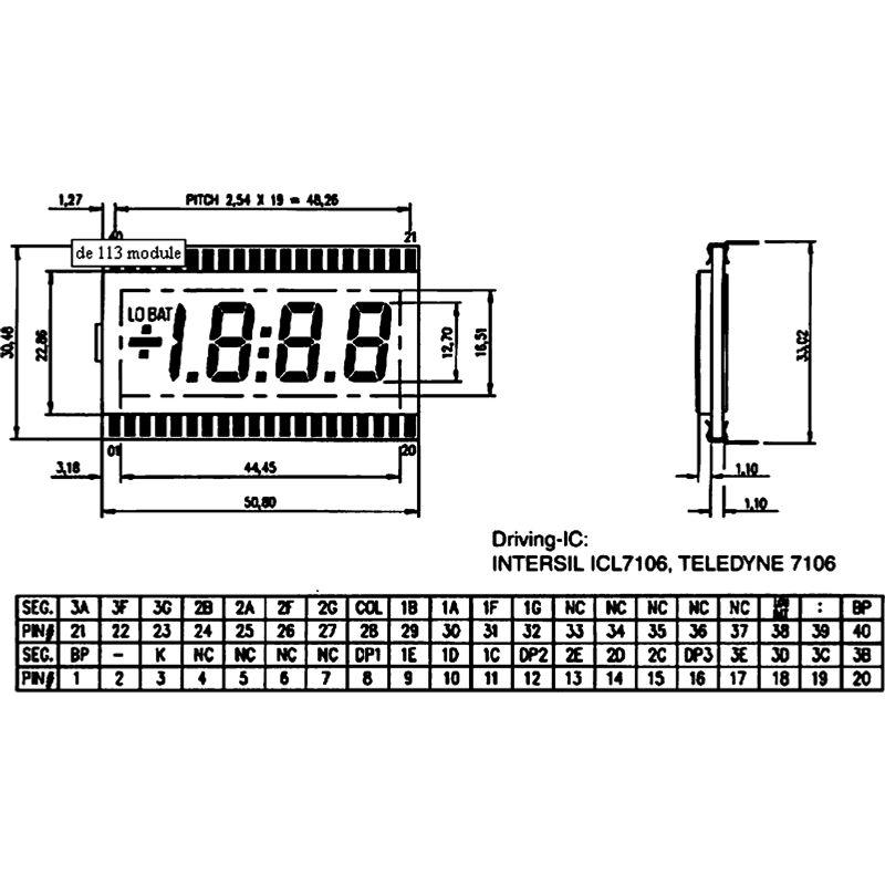 LC-Display 3,5stellig