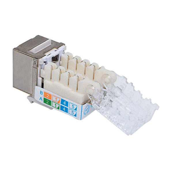 Intellinet Abschließbare Modularbuchse, Cat. 6A, geschirmt, FTP, Keystone, Metallgehäuse
