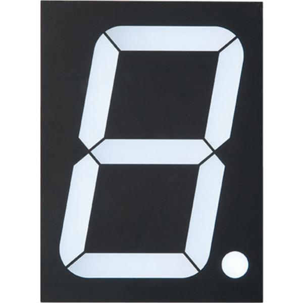 Lucky Light 7-Segment-Anzeige KW1-4001AWB, weiß, 101,6 mm