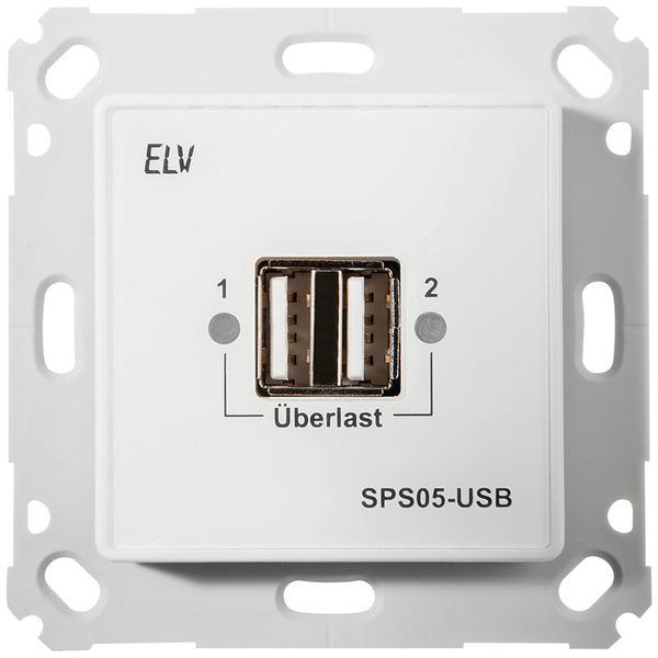 ELV Bausatz Unterputz Schaltnetzteil mit USB-Buchse SPS05-USB, ohne Rahmen