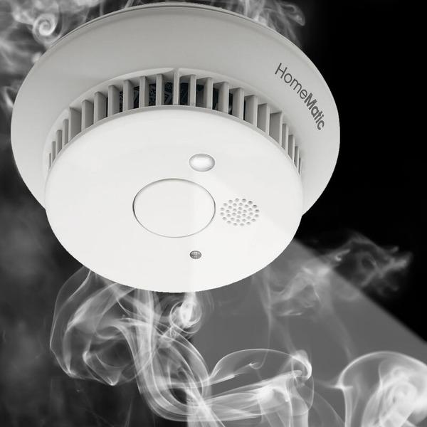 Homematic Funk-Rauchwarnmelder HM-Sec-SD-2 für Smart Home /Hausautomation,10-Jahres-Lithium-Batterie