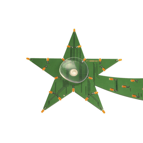 ELV Bausatz LED-Weihnachtsstern LED-WS1, inkl. LEDs (orange) und 5 m Netzteilverlängerung