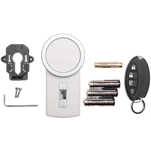 Homematic Funk-Türschlossantrieb KeyMatic, weiß inkl. Funk-Handsender HM-Sec-Key