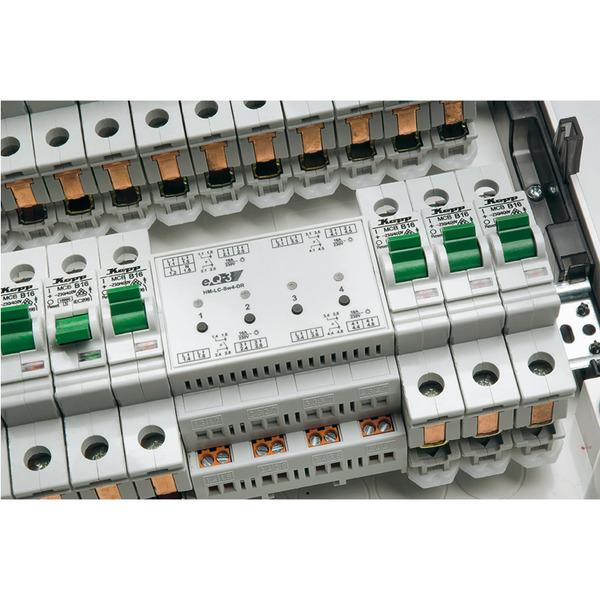 Homematic Funk-Schaltaktor, 4fach, Hutschiene HM-LC-Sw4-DR für Smart Home / Hausautomation