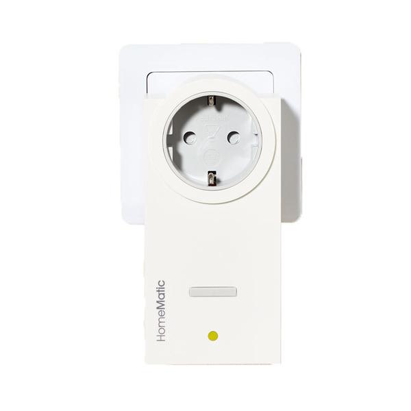 Homematic Funk-Schaltaktor, Zwischenstecker HM-LC-Sw1-Pl-DN-R1 für Smart Home / Hausautomation