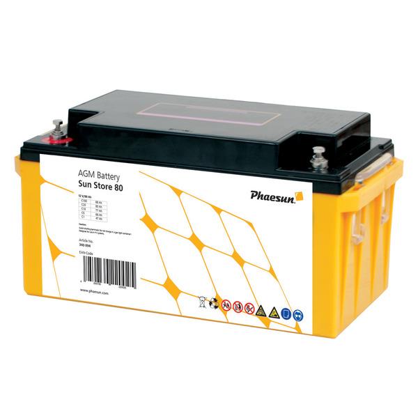 Phaesun Blei-AGM-Akku Sun Store 80, 12 V, 90 Ah