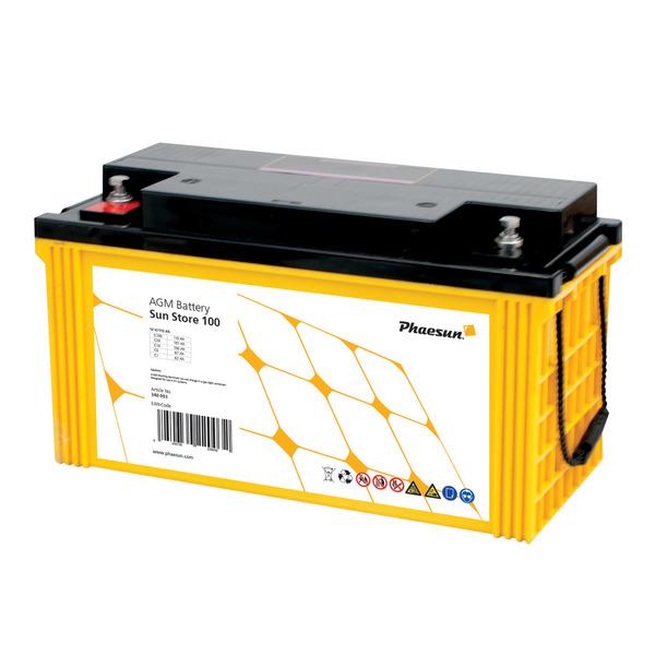 Phaesun Blei-AGM-Akku Sun Store 100, 12 V, 125 Ah