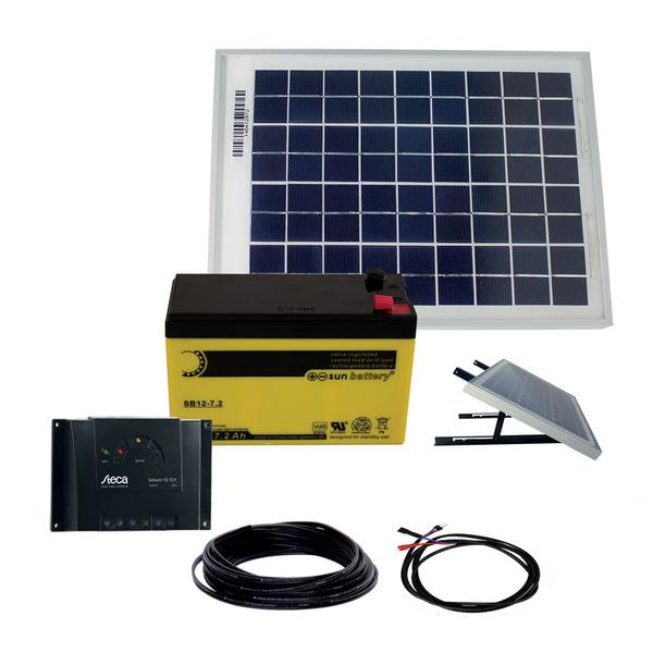 Phaesun Solarstrom-Set mit Akku,  10 W inkl. 6 A Solarladeregler