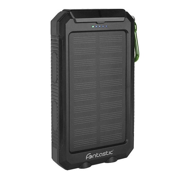 fontastic Solar-Powerbank Ksora 8.0, 8.000 mAh, mit Karabinerhaken