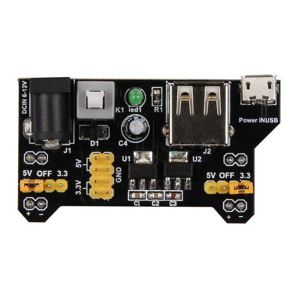 JOY-iT Erweiterungs-Platine B-POW, Spannungsversorgung für Steckboards, Raspberry Pi, Banana Pi