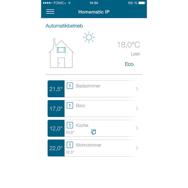 Homematic IP 3er Set Heizkörperthermostat HMIP-eTRV-2 für Smart Home / Hausautomation