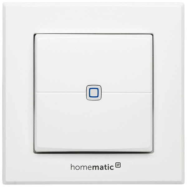 Homematic IP Wandtaster HMIP-WRC2, 2-fach für Smart Home / Hausautomation