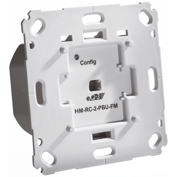 ELV Homematic Komplettbausatz Funk-Sender 2-fach für Markenschalter, 230 V, HM-RC-2-PBU-FM