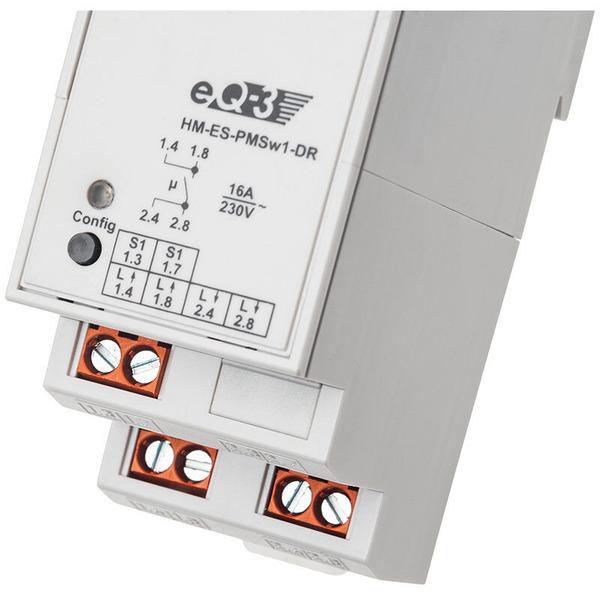 ELV Homematic Komplettbausatz Hutschienen-Schaltaktor mit Leistungsmessung HM-ES-PMSw1-DR