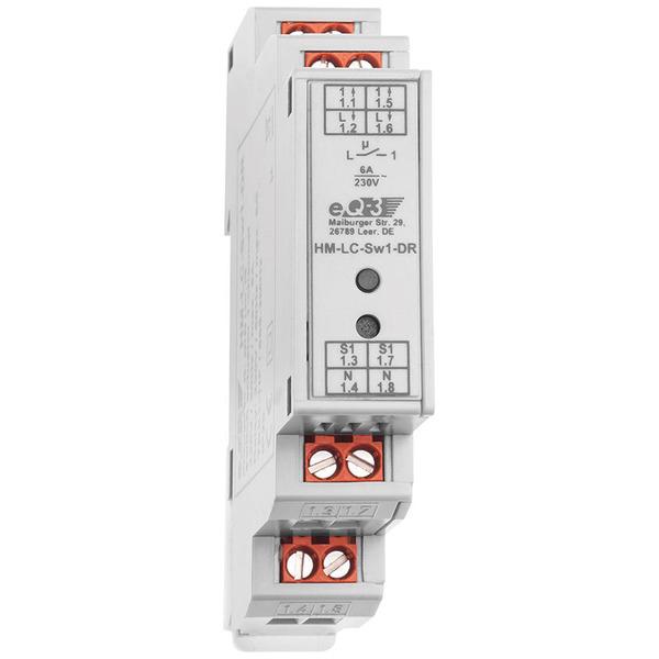ELV Homematic Komplettbausatz 1-Kanal-Schaltaktor im Hutschienengehäuse HM-LC-Sw1-DR
