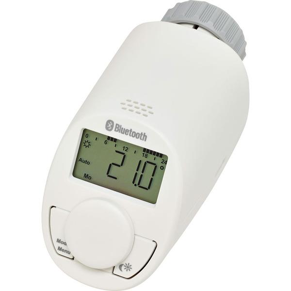 Eqiva Bluetooth Smart Elektronik-Heizkörperthermostat, 3er-Set, mit App-Steuerung