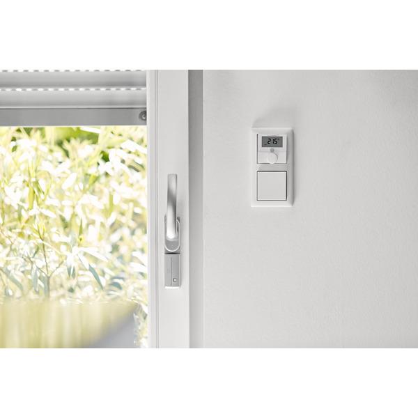 Homematic IP Smart Home Wandthermostat mit Schaltausgang HmIP-BWTH – für Markenschalter, 230 V