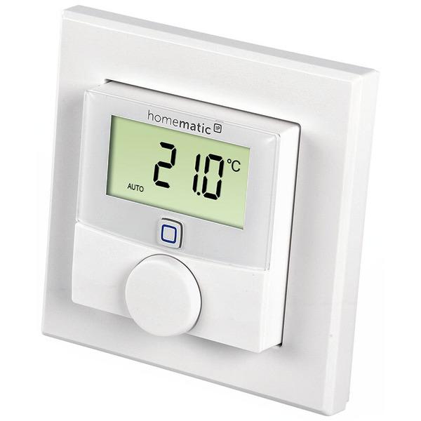 Homematic IP Wandthermostat HmIP-WTH-2 mit Luftfeuchtigkeitssensor für Smart Home