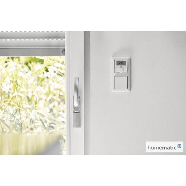 Homematic IP Smart Home Wandthermostat HmIP-WTH-2 mit Luftfeuchtigkeitssensor