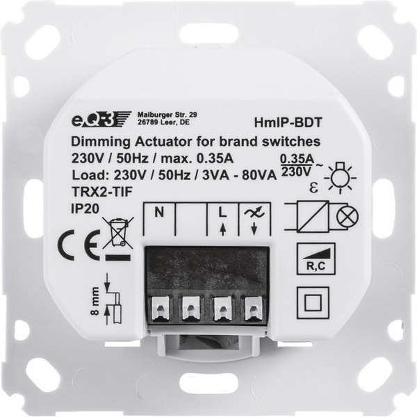 Homematic IP Dimmaktor HmIP-BDT für Markenschalter