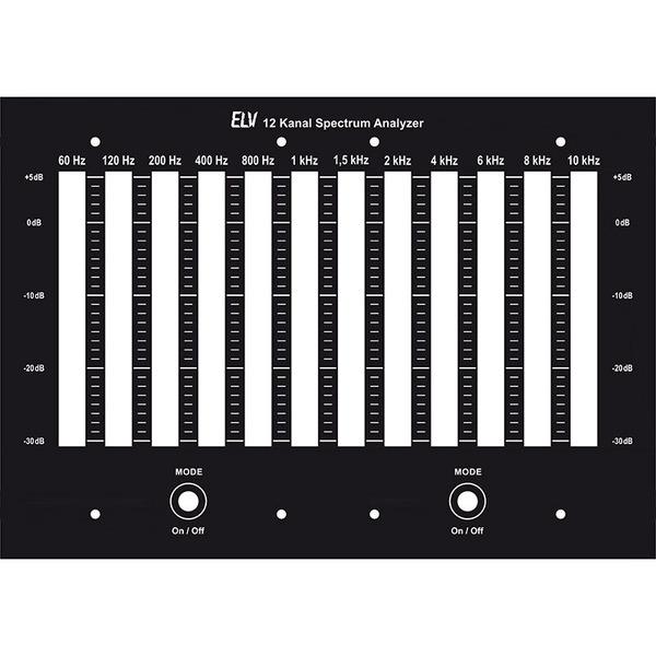 ELV Frontplatte für 12-Kanal-Version ASA6