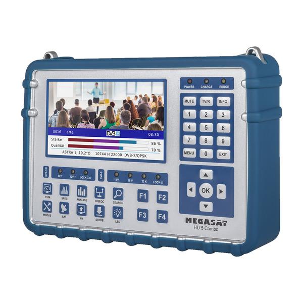 Megasat Sat-Messgerät HD 5 Combo, für DVB-S/S2/S2X, DVB-T/T2, DVB-C/C2, Live-TV-Modus