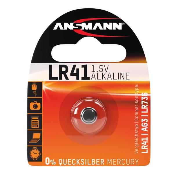 Ansmann Alkaline-Knopfzelle, Typ AG-3, LR41