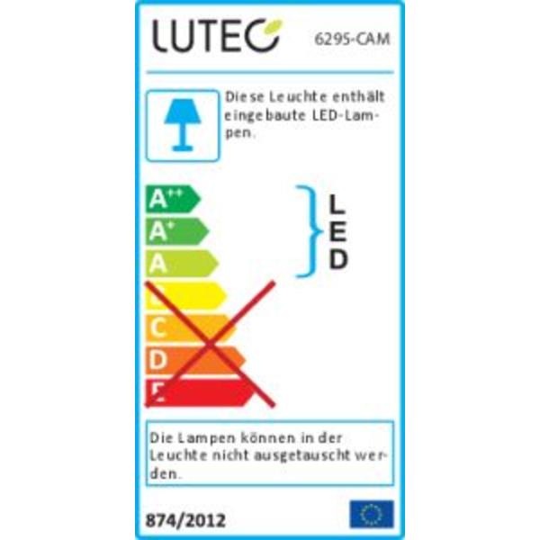 Lutec LED-Kameraleuchte Peri 6295-CAM mit Rekorder, Bewegungsmelder und APP, in Anthrazit