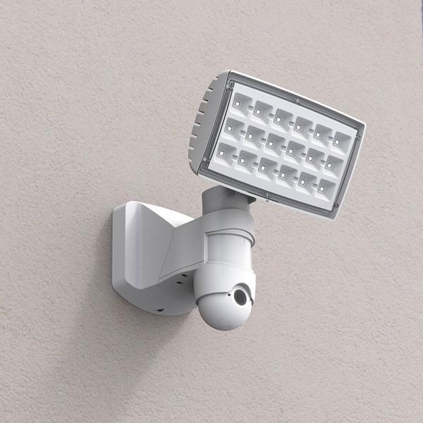 Lutec IP-Überwachungskamera mit LED-Scheinwerfer Peri 6295-CAM, HD (720p), App-Zugriff