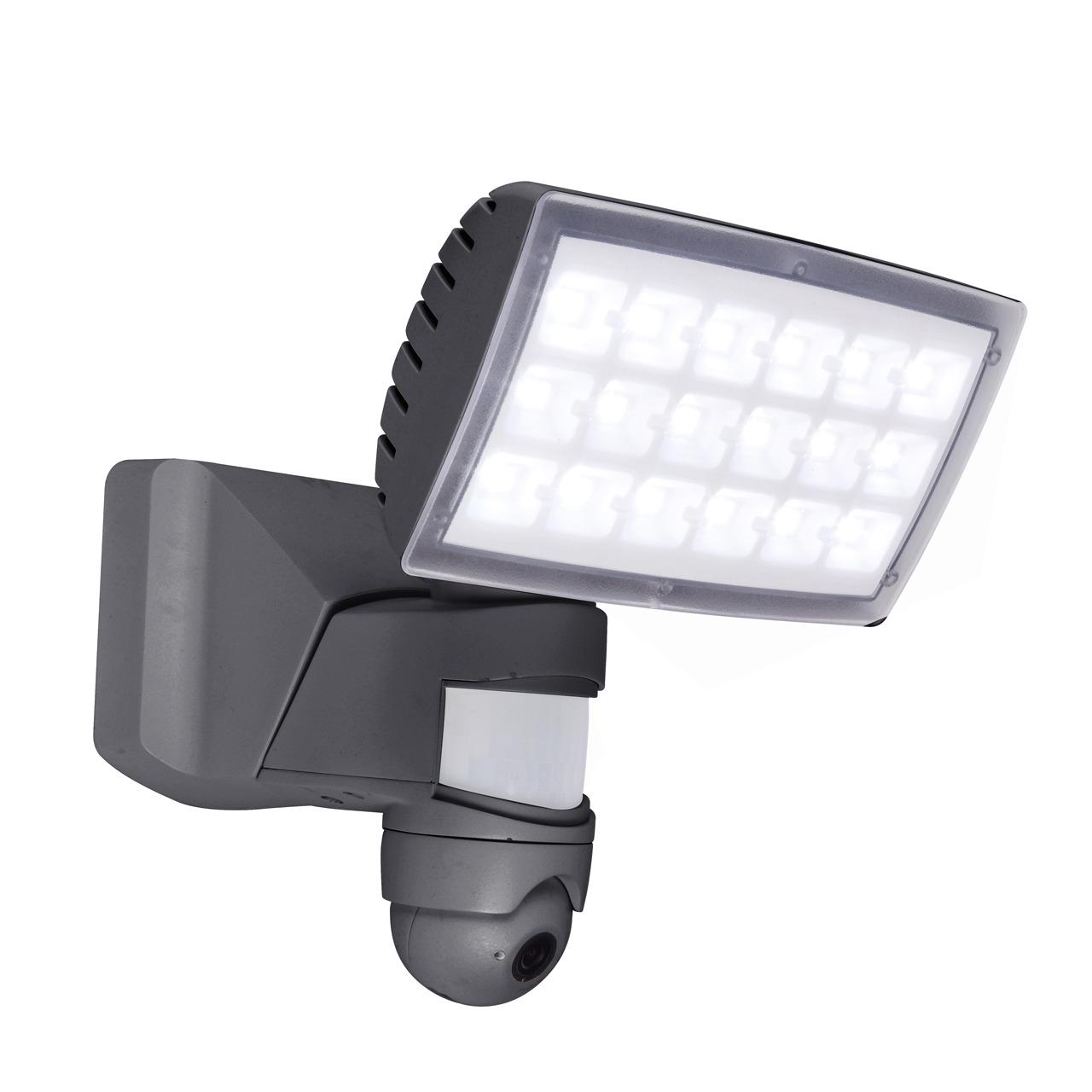 Lutec LED-Kameraleuchte Peri 6295-CAM mit Rekorder- Bewegungsmelder und APP- in Anthrazit