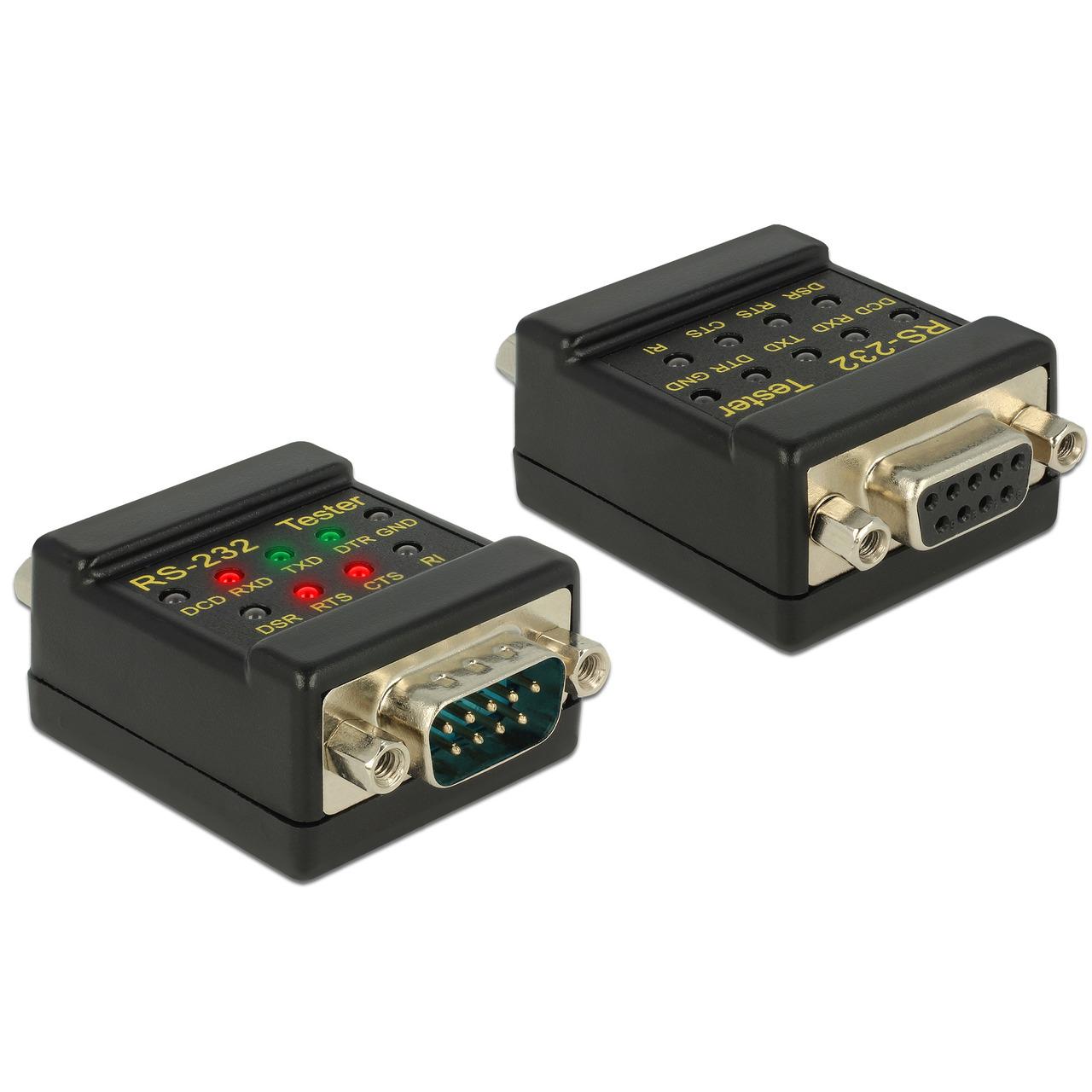 Delock RS-232 Tester DB9 Buchse - DB9 Stecker